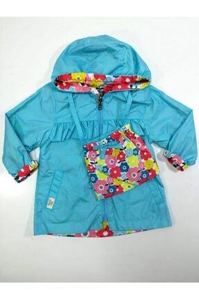 Midimod Kız Çocuk Mavi Yağmurluk