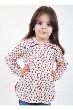 Timo Kız Çocuk Pembe Robalı Biyeli Gömlek 150299090