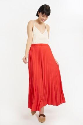 Batik Kadın Mercan Düz Casual Etek Y10519