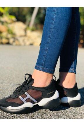 Guja Kadın Siyah Suni Deri Dora Quality Casual Ayakkabı