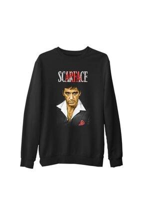 Lord Unisex Siyah Scarface Kalın Sweatshirt