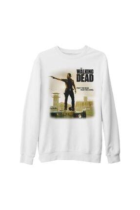 Lord Unisex Beyaz The Walking Dead  Rick Kalın Sweatshirt