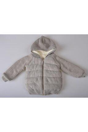 POKY BEBE Unisex Bebek Gri Yeni Sezon Kapüşonlu Kışlık Fermuarlı Mont