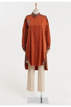 Setrms Kadın Taş Işlemeli Gizli Düğmeli Tunik