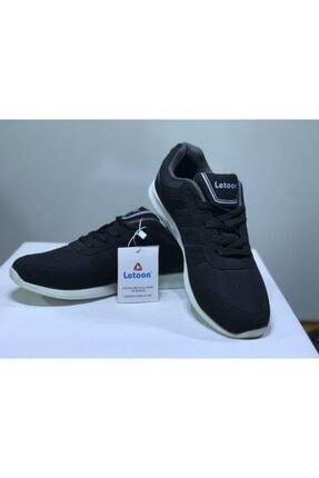 Letoon Kadın Siyah Bağcıklı Spor Ayakkabı