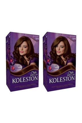 Koleston Wella Kit Boya 5-4 Açık Kestane 2 Adet