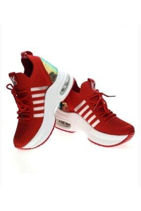 Guja Kadın Kırmızı Yüksek Taban Günlük Sneaker