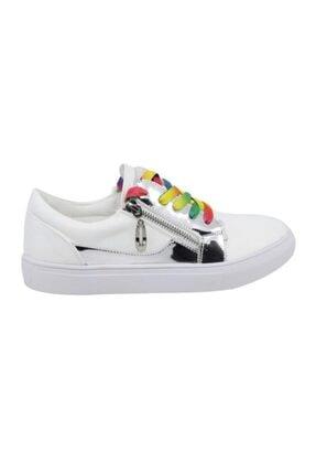 Guja Kadın Beyaz Bağcıklı Sneaker 18y406