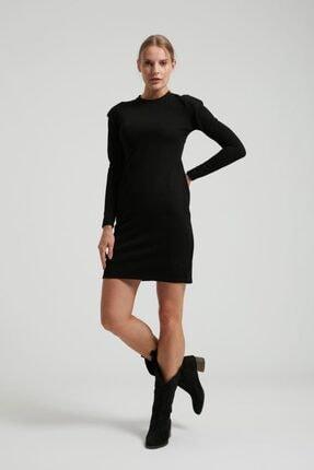 Batik Kadın Siyah Vatkalı Elbise