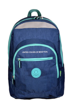 Hakan Çanta Benetton 95018 Lacivert Turkuaz Unisex Sırt Çantası 100381117