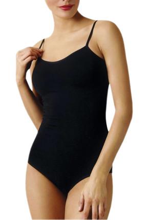 Namaldi Kadın Siyah İp Askılı Kancalı Çıtçıtlı Body ELF568N261CCM