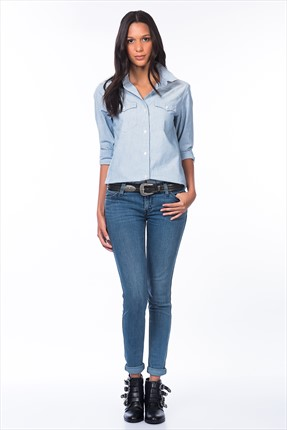 Levi's Kadın Mavi  L8 Skinny Jean 27271-0005
