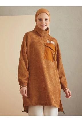 Loreen Kadın Hardal Cep Detaylı Tunik