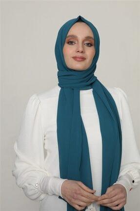 Karaca Kadın Petrol Mavisi Nano Krep Şal