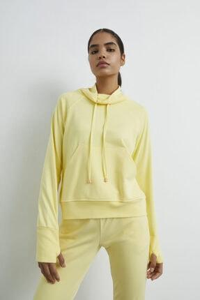 adL Kadın Sari Bato Yaka Sweatshirt
