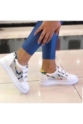 Guja Kadın Beyaz Cırtlı Günlük Sneaker Ayakkabı