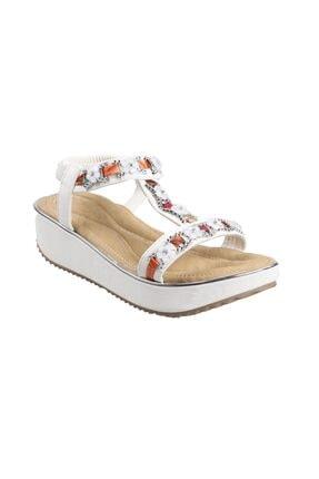 Guja Kadın Beyaz Ortopedik Günlük Sandalet 20y237-9
