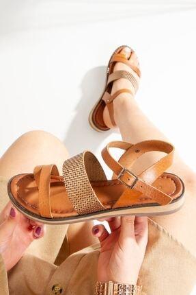 derithy Hakiki Deri Sandalet