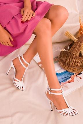 SOHO Beyaz Kadın Klasik Topuklu Ayakkabı 16182