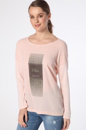Fashion Friends Kadın Pudra Baskılı T-Shirt 8B0671B1