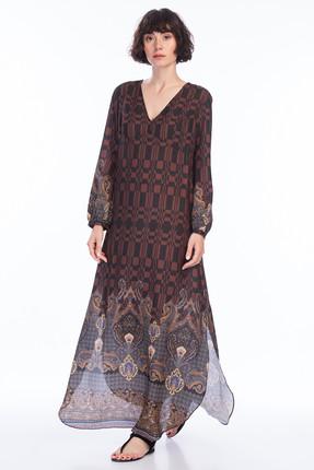 Batik Kadın Koyu Kahverengi Elbise A2293ELBC6K