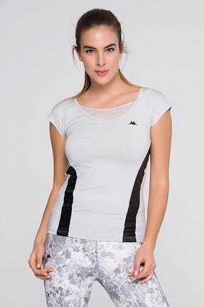 Kappa Kadın Gümüş T-shirt - Kadın T-Shirt - 1 303ITF0 073S