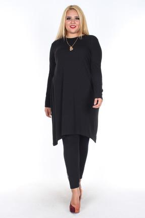 Rmg Kadın Siyah Triko Tunik 6240