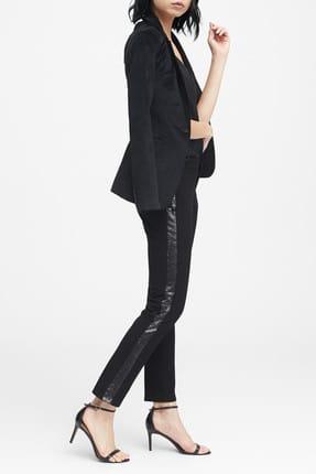 Banana Republic Kadın Siyah Sloan Skinny-Fit Yanları Pullu Pantolon 396281