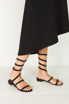 Derimod Siyah Kadın Sandalet