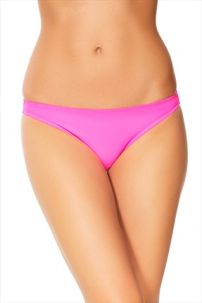 No Gossip Kadın Neon Pembe Bikini Altı Klasik 169202