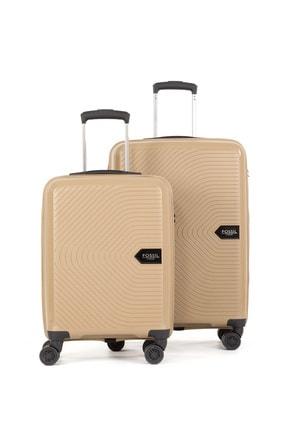Fossil Unisex Bej Pp Kırılmaz Valiz Kabin+orta 2'li Set