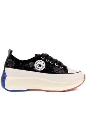 Guja Bayan Siyah Spor Ayakkabı