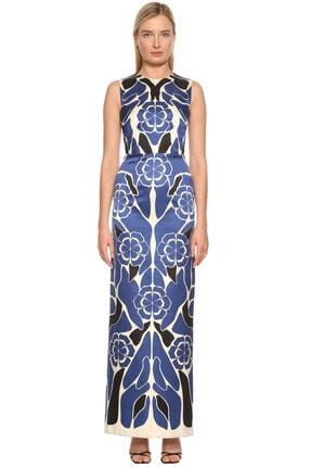 Alexander McQueen Mavi Gece Elbisesi