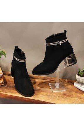 Kriste Bell Kadın Siyah Topuklu Bot
