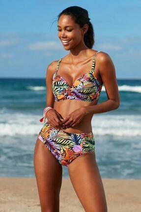 No Gossip Kadın Kalın Kenar Bikini Alt 209207-D Tropic