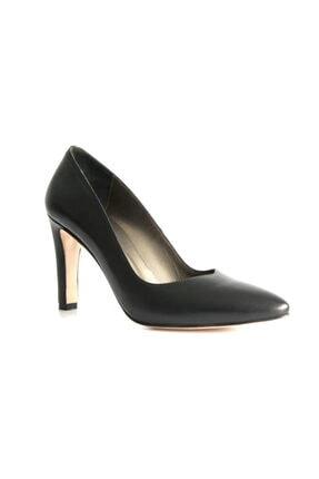Beta Kadın Hakiki Deri Topuklu Ayakkabı Siyah