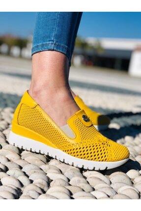 Stella Kadın Sarı Deri Ayakkabı