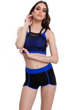 Armes Kadın Bikini Takımı Şortlu Sporcu Yüzücü Siyah 9704-01-11