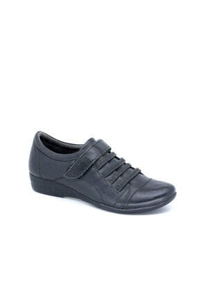Punto 02190 Z Hakiki Deri Kadın Kalın Topuk Ayakkabı