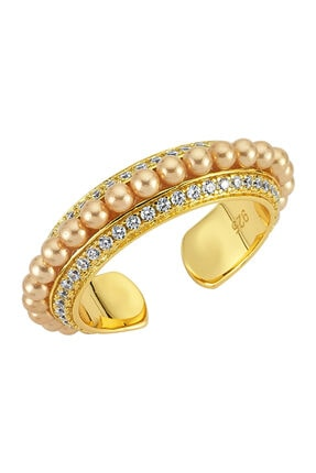 LUZDEMIA Pearl Crown Ring 925
