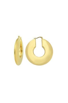 LUZDEMIA Full Moon Hoop Earring - Gold