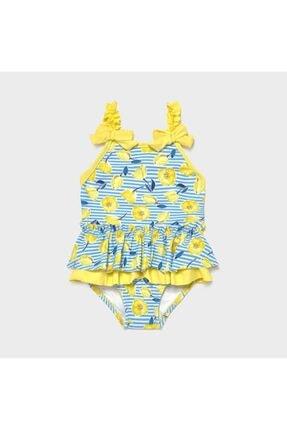 Mayoral Kız Bebek Sarı Fırfırlı Çiçekli Mayo 1719