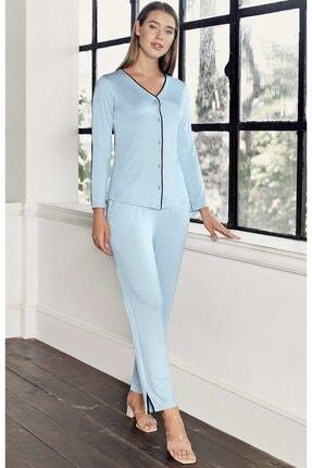 Artış Kadın Mavi Pijama Takım 2'li