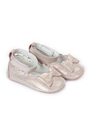 Funny Baby Naturel Deri Bilekten Cırtlı Bebek Ayakkabısı