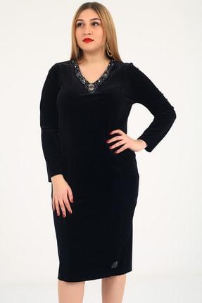Günay Kadın Abiye Elbise Ugz5029-sıyah