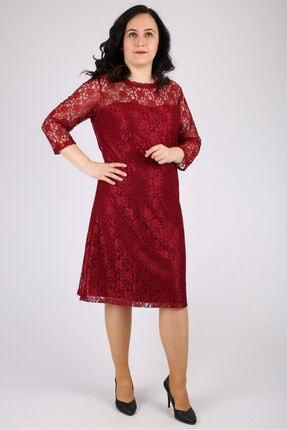 Günay Kadın Abiye Elbise Spl3122 Kısa-bordo