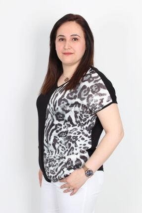 Günay Kadın Bluz Edby1384 Ilkbahar Yaz V Yaka Renk Kombin-piton