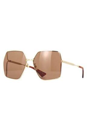 Gucci Kadın Kahverengi Güneş Gözlüğü Gg0817s 002