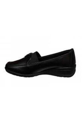 Polaris Kadın Siyah Z Ortepedik Dolgu Topuk Rahat Ayakkabısı 150056