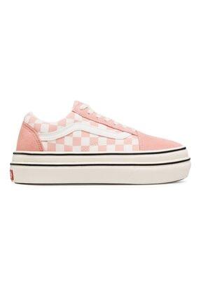 Vans Ua Super Comfycush Old Skool (suede Canvas) Peach/marshmallow Kadın Spor Ayakkabısı